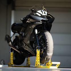 Bandenwarmers motor voor- en achterwiel