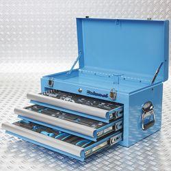 blauwe toolbox met gereedschap in 3 lades 51101 blue 3