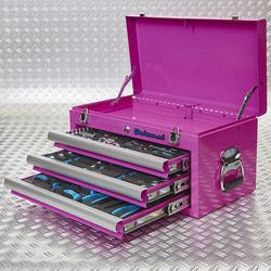 gevulde roze koffer 51101 pink 3