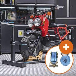 Inrijklem voor scooters met spanbanden