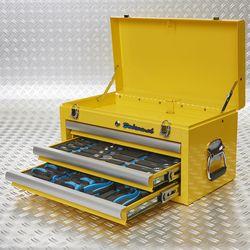 toolbox twee lades gevuld 51101 yellow
