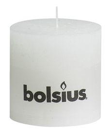 Bolsius stompkaarsen Rustiek XXL wit 100/100 mm