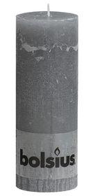 Bolsius stompkaars Rustiek lichtgrijs 190/68 mm