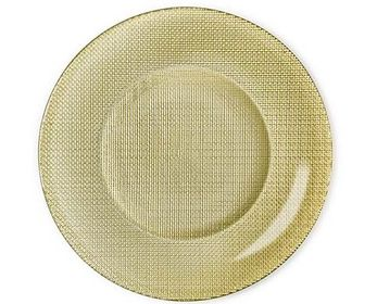Bormioli plat bord Inca goud
