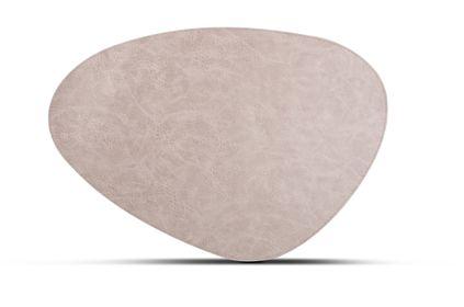 Salt Pepper Placemat Kunstleer Beige 47 x 32 cm