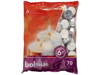 Bolsius theelichten 6 uren wit - 70 stuks