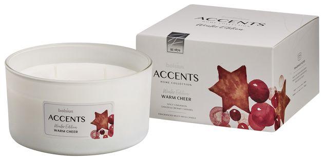 Bolsius geurkaars in glas Accents Multi Lont Warm Cheer 83/145 mm