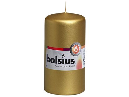 Bolsius stompkaars Cello goud 120/60 mm