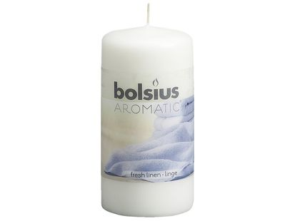 Bolsius stompkaars Aromatic Fresh Linen 120/60 mm