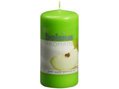 Bolsius stompkaars Aromatic Green Apple 120/60 mm