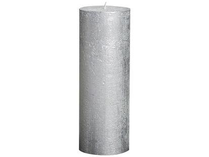 Bolsius stompkaars Metallic zilver 190/68 mm