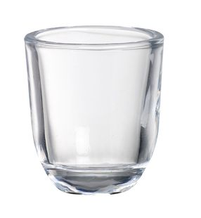 Bolsius kaarshouder rond glas transparant