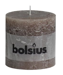 Bolsius stompkaarsen Rustiek XXL taupe 100/100 mm