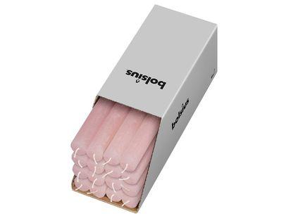 Bolsius tafelkaarsen Rustiek roze - 16 stuks
