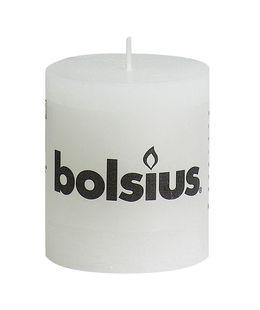 Bolsius stompkaarsen Rustiek wit 4 stuks