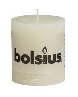 Bolsius stompkaarsen Rustiek ivoor 4 stuks