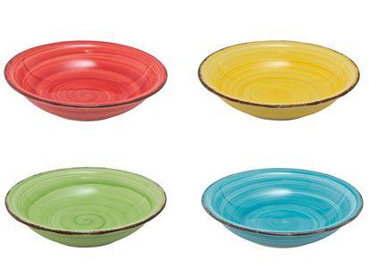 diepe borden gekleurd