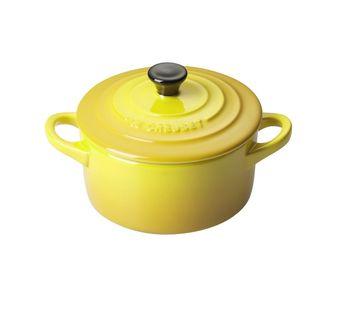 Le Creuset mini braadpan geel
