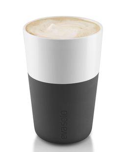 Eva Solo Cafe Latte Mok Zwart 36 cl - 2 Stuks