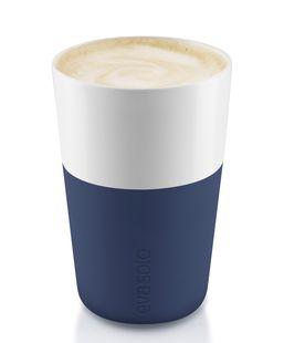 Eva Solo Cafe Latte Mok Navy Blue 36 cl - 2 Stuks