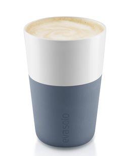 Eva Solo Cafe Latte Mok Steel Blue 36 cl - 2 Stuks