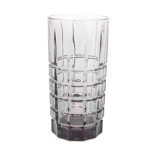 Salt & Pepper longdrinkglas Victoria vierkant grijs