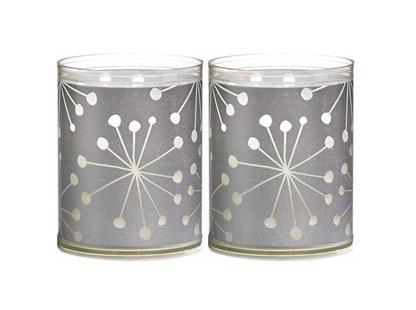 Bolsius kaarsen Sparkle Light kristal zilver - 2 stuks