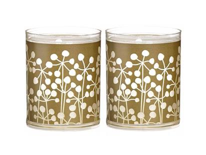 Bolsius kaarsen Sparkle Light natuur goud - 2 stuks