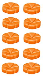 Bolsius geurchips Creations Juicy Orange - 10 stuks