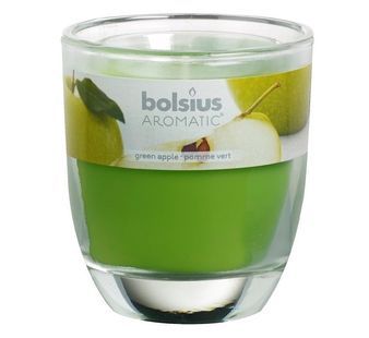 Bolsius geurkaars in glas Aromatic Green Apple 120/100 mm