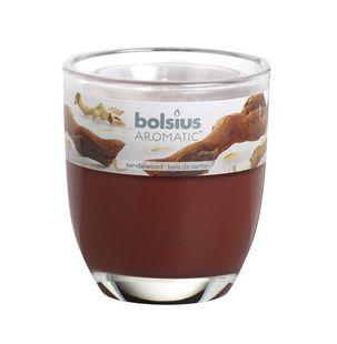 Bolsius geurkaars in glas Aromatic Sandalwood 80/70 mm