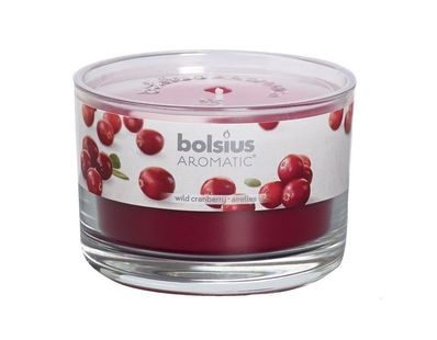 Bolsius geurkaars in glas Aromatic Wild Cranberry 63/90 mm