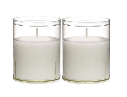 Bolsius kaarsen Sparkle Light transparant - 2 stuks