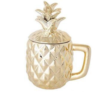 Cosy & Trendy Drinkbeker Ananas Goud
