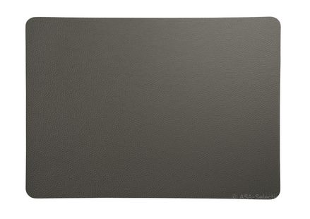 ASA Selection Placemat Leer Antraciet 33 x 46 cm