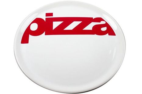 Pizzabord Wit & Rood - 29 CM