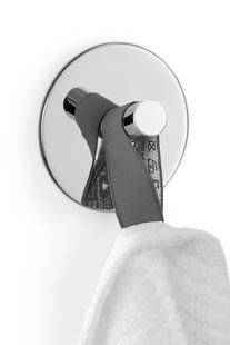 Zack Duplo handdoekhaak rond - spiegelglans rvs