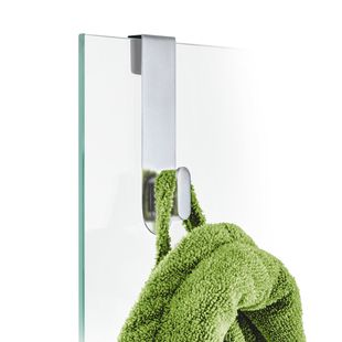Blomus Areo handdoekhaak voor douchewand - mat rvs