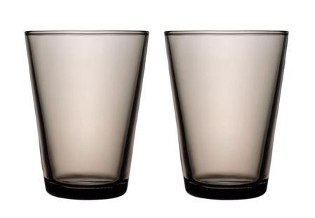 Iittala Kartio glas 40cl zand - 2 stuks