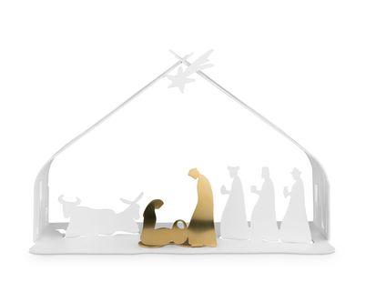 Alessi Kerststal Bark Wit