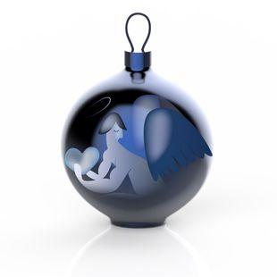 Alessi Kerstbal Blue Christmas Angelo