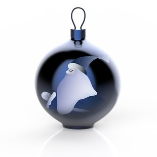 Alessi Kerstbal Blue Christmas Babbo