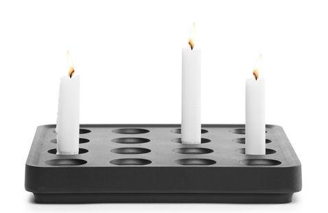 Born in Sweden Stumpastaken kaarsenhouder 30x30cm - zwart