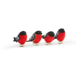 Born in Sweden Deco vogels - goudvink - 4 stuks