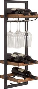 d-Bodhi Winemate hangend wijnrek voor 6 flessen en 4 glazen