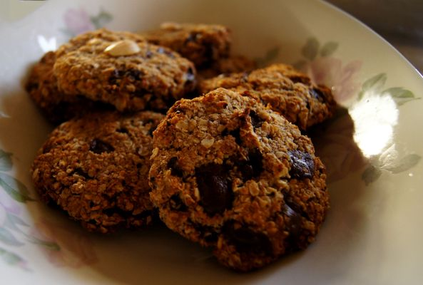 Chocolate chip cookies met havermout
