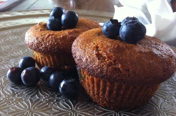Muffins van amandelmeel