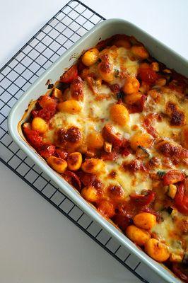 Vegetarische gnocchi ovenschotel