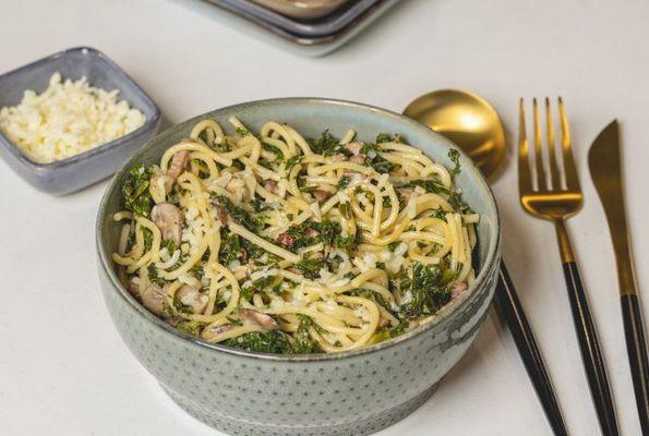 Spaghetti met boerenkool