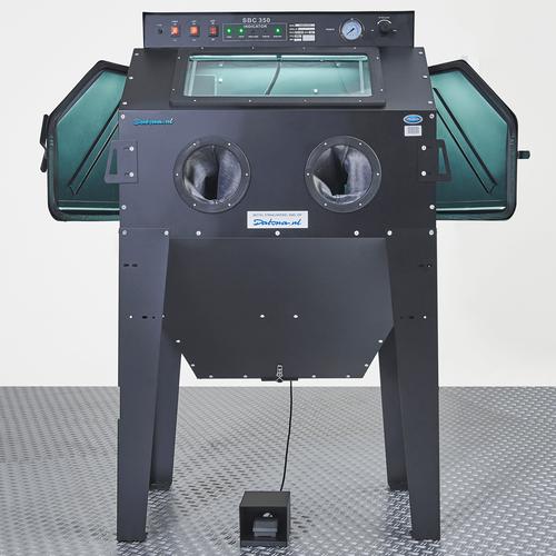 Zandstraalapparaat met afzuiging 350 liter